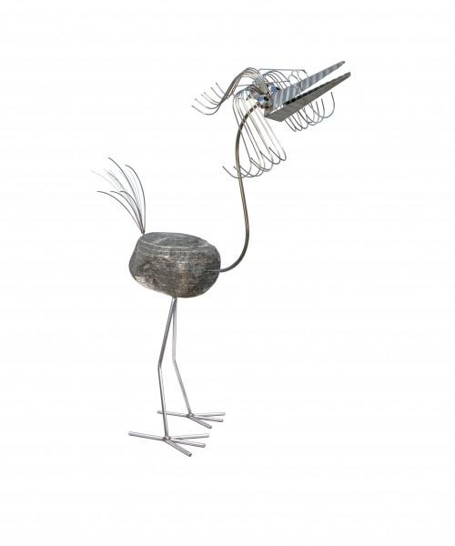 edelstahl steinvogel groß nirosta wetterfest gartendekoration tiedemann manufaktur naturstein