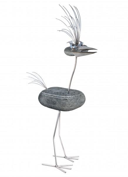 edelstahl steinvogel wetterfest naturstein tiedemann manufaktur gartendekoration nirosta rostfrei