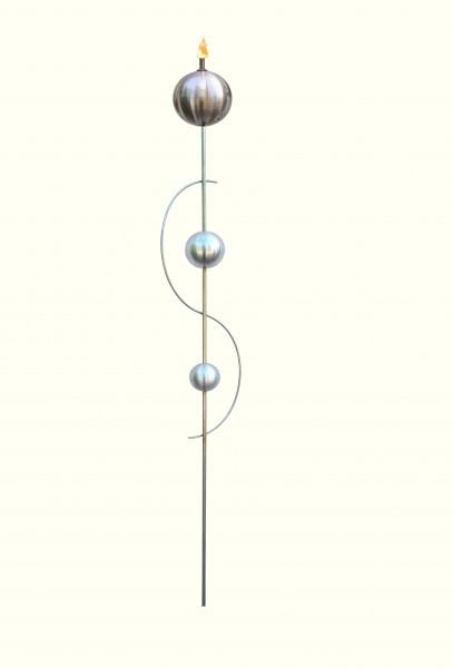 Edelstahl gartenfackel nirosta gartendeko blumenstecker rankhilfe gartenstecker gartendekoration tiedemann manufaktur
