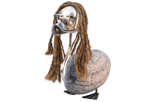 j tiedemann manufaktur steinvogel steinente sisalhaare wetterfest rostfest gartendeko terasse balkon